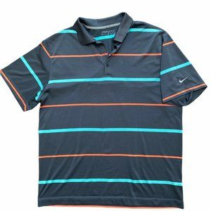 Mens Nike Golf Dri Fit Polo *missing button